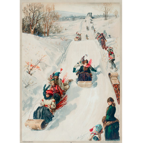 Tobogganing - DIY Painting By Numbers Kit