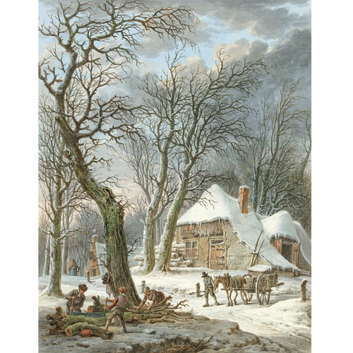 Winterlandschap - DIY Painting By Numbers Kit