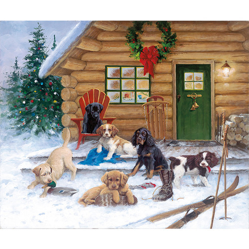 Christmas at the Cabin - DIY Painting By Numbers Kit