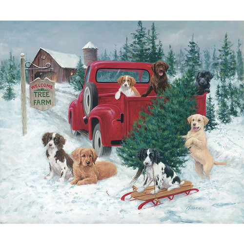Christmas Tree Farm - DIY Painting By Numbers Kit