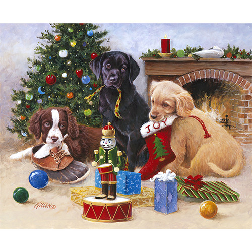 Mischief Under the Tree - DIY Painting By Numbers Kit