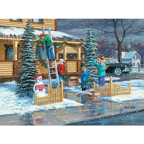 Decking The Halls - DIY Painting By Numbers Kit