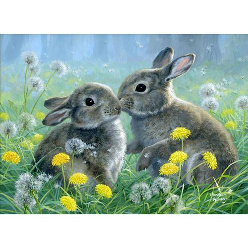 Summer Love II - Bunnies - DIY Painting By Numbers Kit