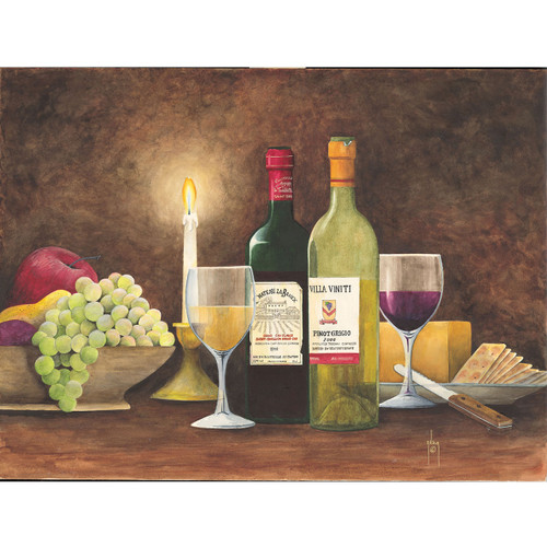 Wine and Candlelight - DIY Painting By Numbers Kit