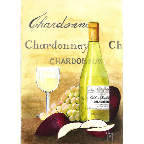 Apples and Chardonnay - DIY Painting By Numbers Kit