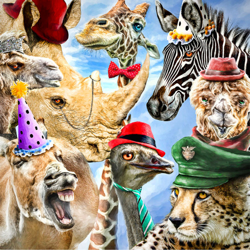 Party Animals - DIY Painting By Numbers Kit