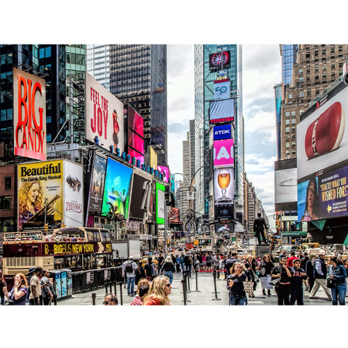 Vivid Times Square - DIY Painting By Numbers Kit