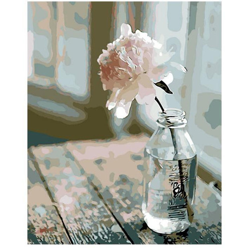 Rose in a Bottle - DIY Painting By Numbers Kit