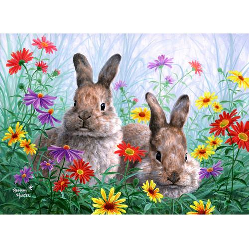 Summertime Bunnies - DIY Painting By Numbers Kit