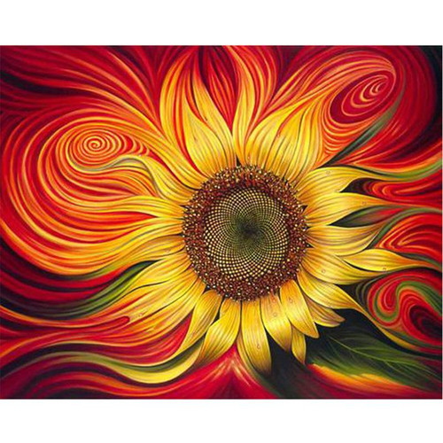 Acrylic Sunflower - DIY Painting By Numbers Kit