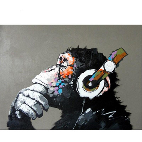 DJ Monkey - DIY Painting By Numbers Kit