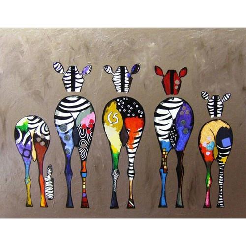 Backs of Zebras - DIY Painting By Numbers Kit