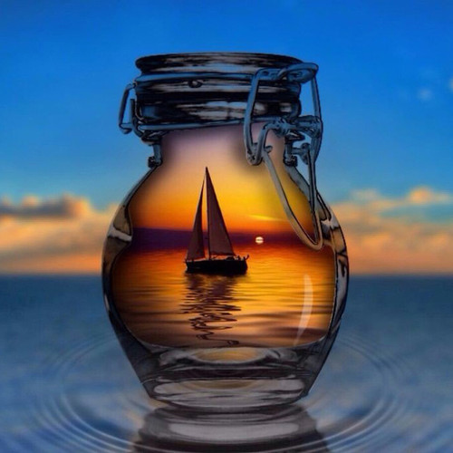 Beautiful Sail Boat Sunset  - DIY Paint By Numbers Kit