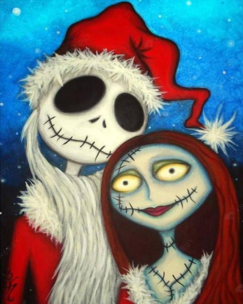 Cartoon Halloween Santa - DIY Paint By Numbers Kit
