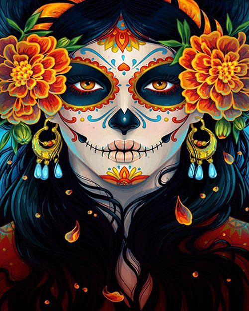 Festive Halloween Face Paint  - DIY Paint By Numbers Kit