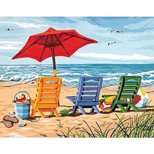 Beach Chairs - DIY Painting By Numbers Kit
