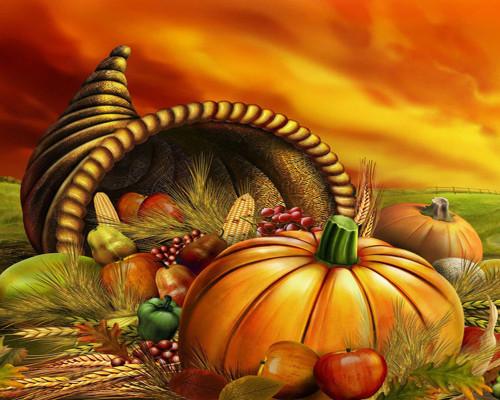 Halloween Festive Cornucopia - DIY Paint By Numbers Kit