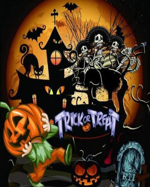 Trick or Treat Halloween Festivities - DIY Paint By Numbers Kit