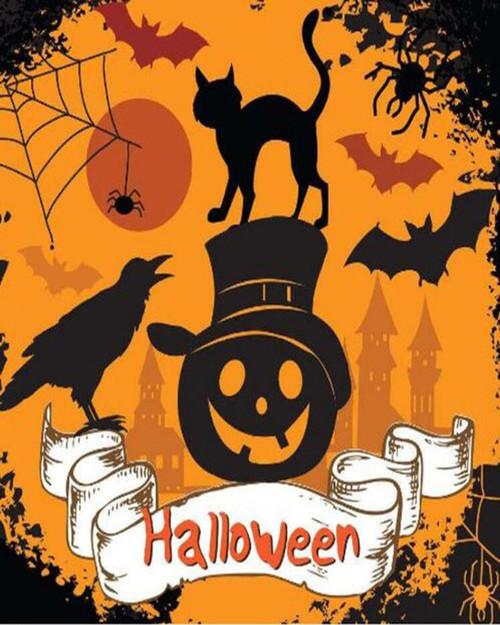 Black Cat Halloween - DIY Paint By Numbers Kit