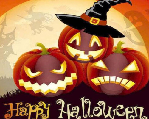 Halloween Jack O' Lanterns - DIY Paint By Numbers Kit