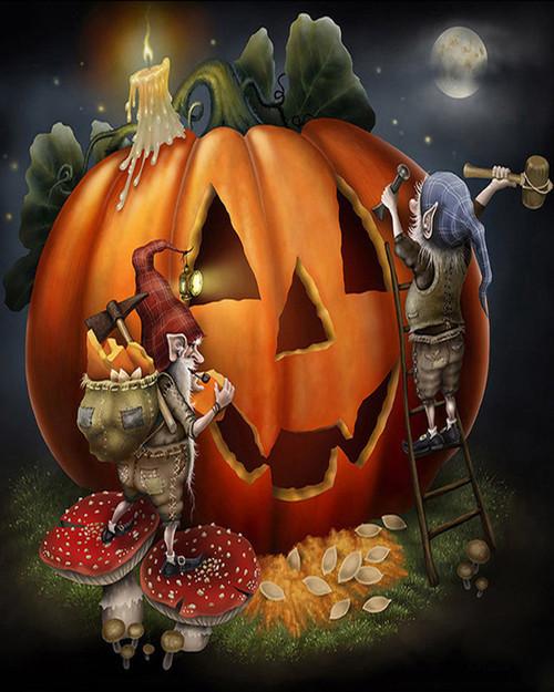 Pumpkin Carving - DIY Paint By Numbers Kit