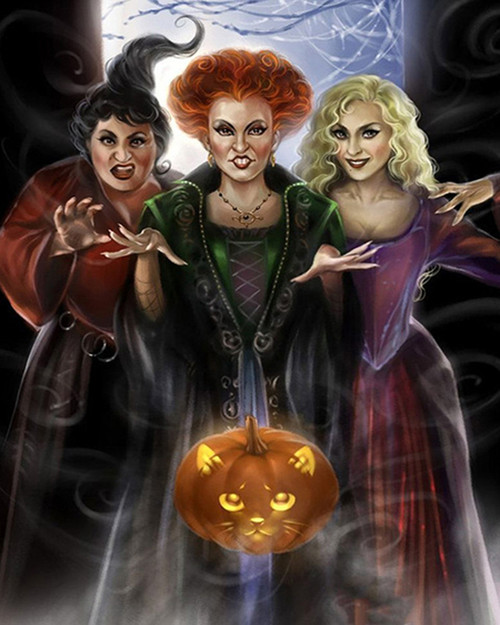 Evil Witch Trio - DIY Paint By Numbers Kit