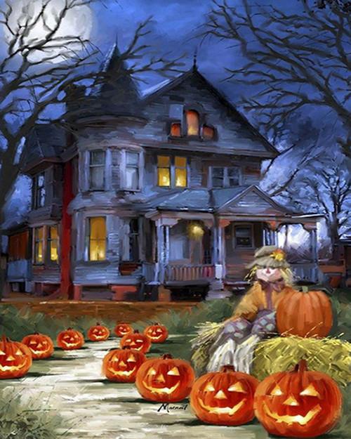 Eerie Haunted House - DIY Paint By Numbers Kit