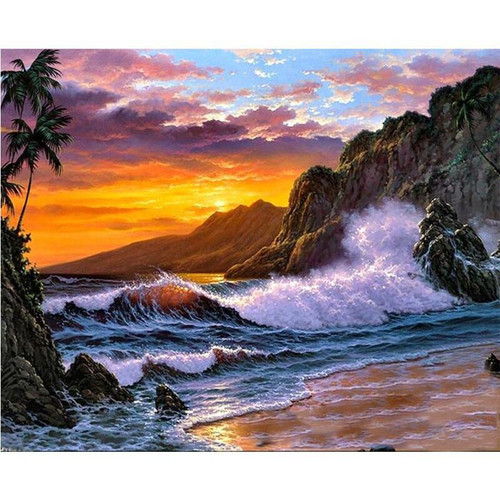 Beachy Evening - DIY Painting By Numbers Kit
