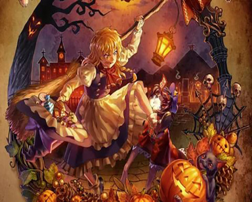 Halloween Town  - DIY Paint By Numbers Kit