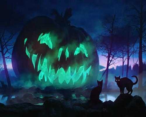 Haunted Jack O' Lanterns  - DIY Paint By Numbers Kit