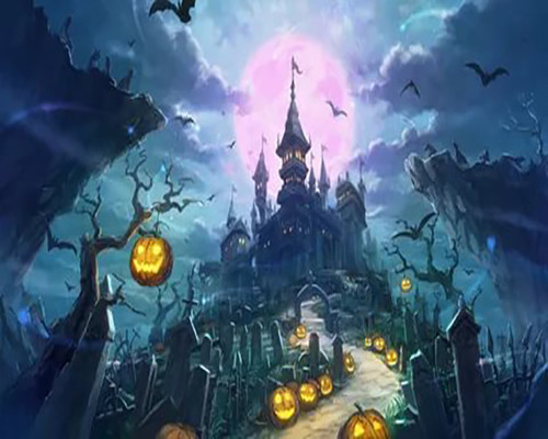 Haunted Castle Steps  - DIY Paint By Numbers Kit