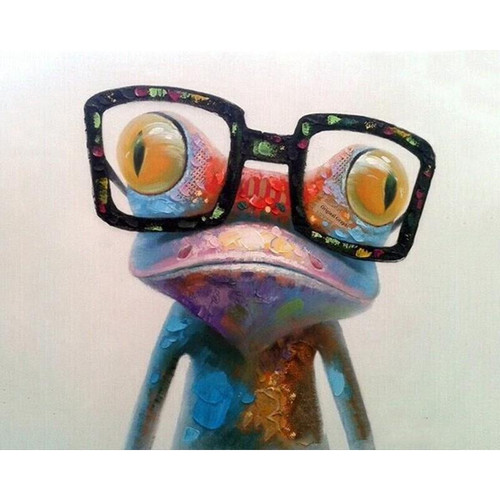A Geek Frog - DIY Painting By Numbers Kit