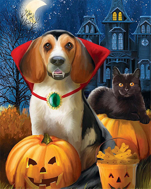 Vampire Dog - DIY Paint By Numbers Kit