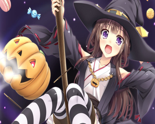 Witch Anime Girl  - DIY Paint By Numbers Kit