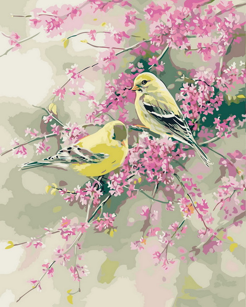 Tranquil Yellow Bird Scenery - DIY Paint By Numbers Kit
