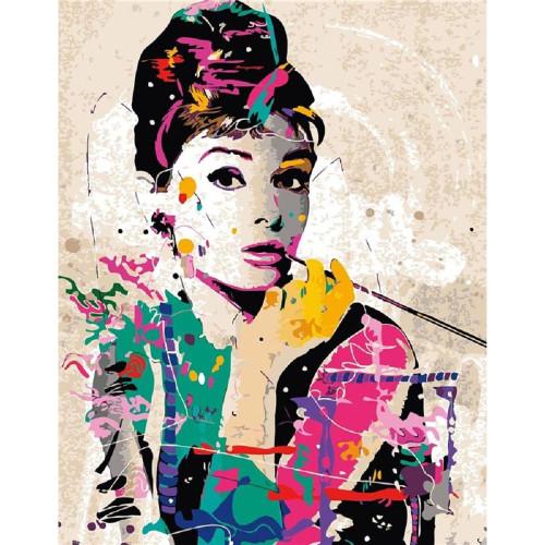 Audrey Hepburn - DIY Painting By Numbers Kit
