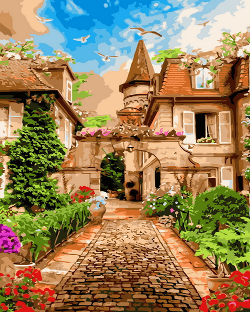 Peaceful Town Village - DIY Paint By Numbers Kit