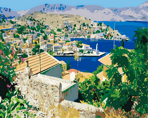 Beautiful City Harbor View - DIY Paint By Numbers Kit