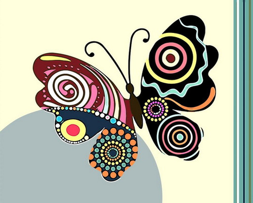 Abstract Colorful Butterfly - DIY Paint By Numbers Kit