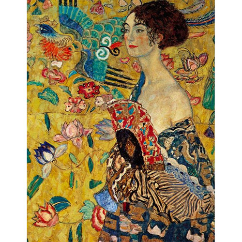 Lady With Fan, Gustav Klimt - DIY Painting By Numbers Kit