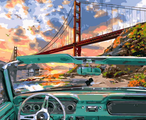 Lookout Point Convertible - DIY Paint By Numbers Kit