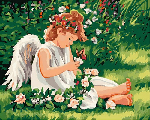 Child's Angel Wings - DIY Paint By Numbers Kit