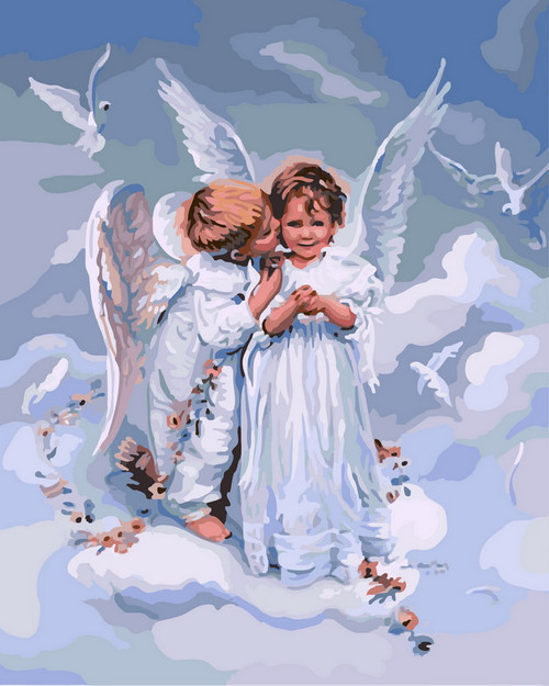 Angel Child Duo - DIY Paint By Numbers Kit