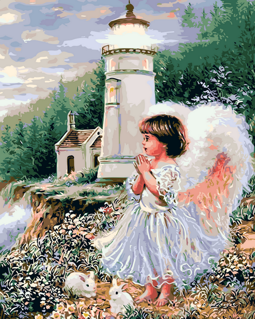 Lighthouse Angel - DIY Paint By Numbers Kit