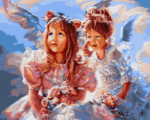 Young Girl Angels - DIY Paint By Numbers Kit
