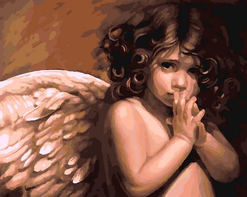 Angel Wings Portrait - DIY Paint By Numbers Kit