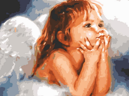 Toddler Angel - DIY Paint By Numbers Kit