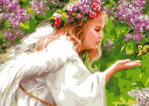 Angel & Butterfly - DIY Paint By Numbers Kit