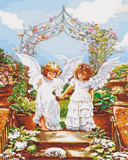 Young Angel Wedding Arch - DIY Paint By Numbers Kit