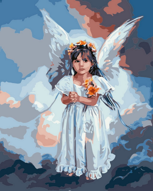 Abstract Angel Portrait - DIY Paint By Numbers Kit